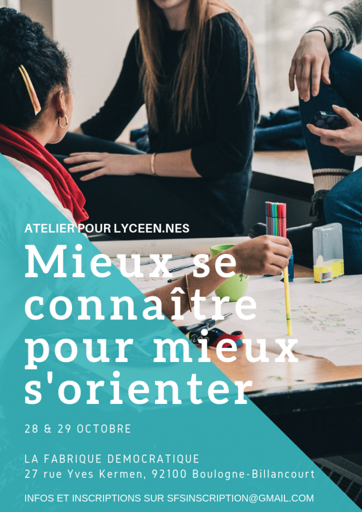 Flyer de l'atelier d'octobre 2019 recto