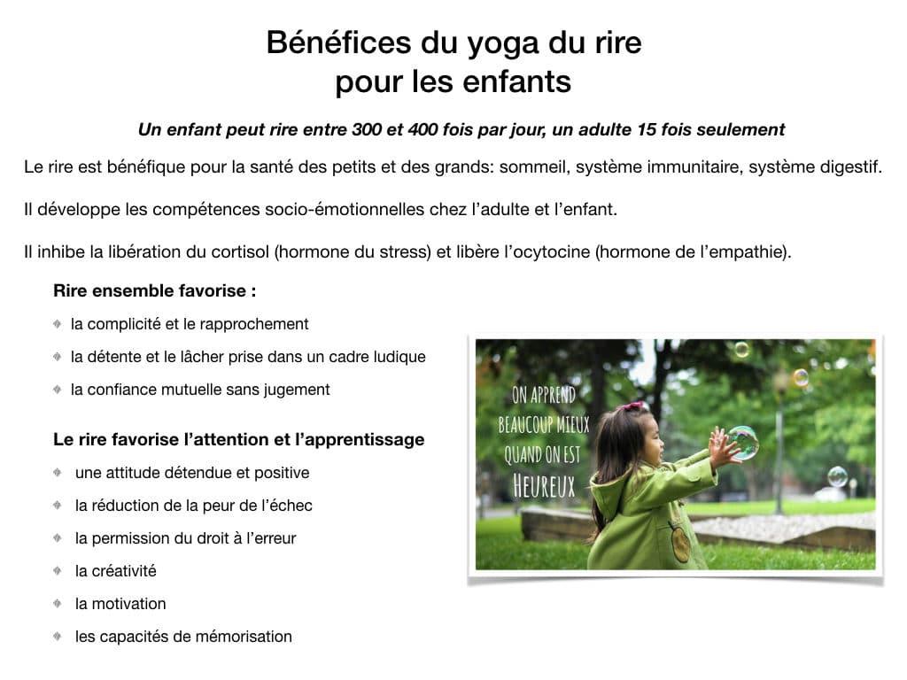 Les bénéfices du yoga du rire pour les enfants